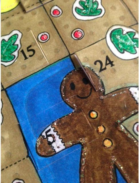 Gingerbread House Advent Calendar 2016